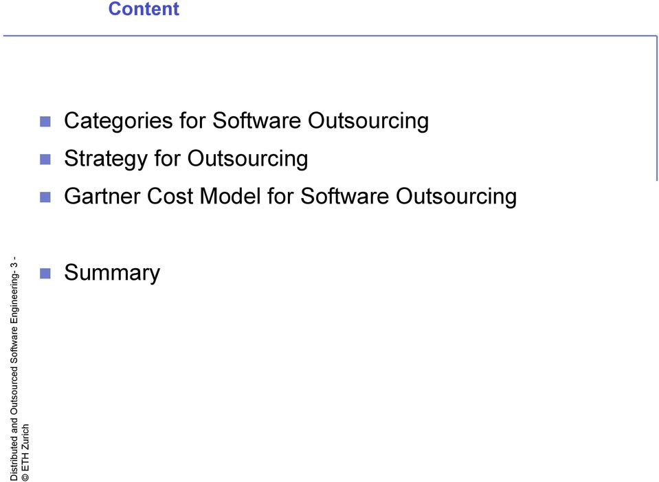 for Software Outsourcing Distributed and