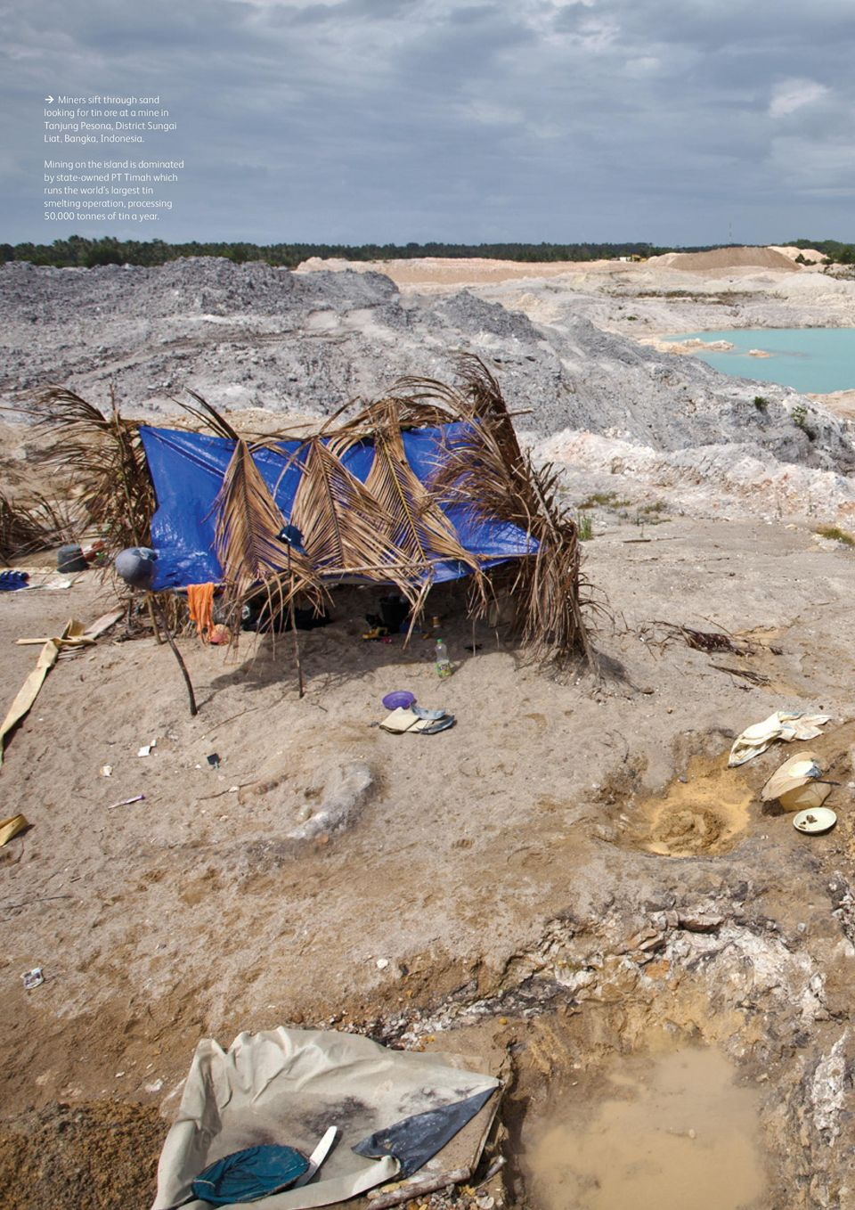 Mining on the island is dominated by state-owned PT Timah which