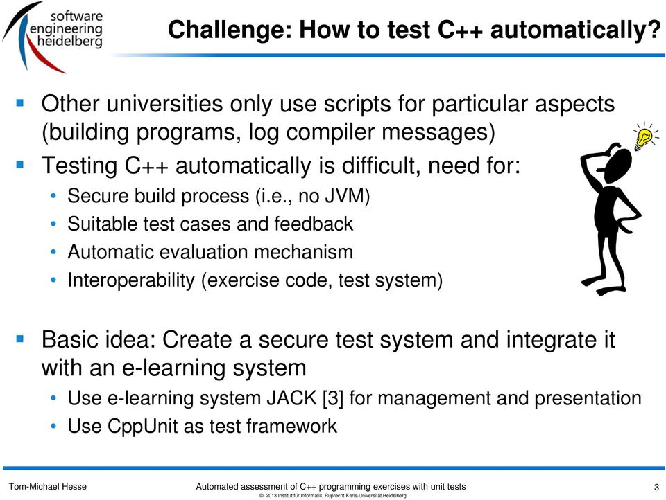 Automated assessment of C++ exercises with unit tests - PDF
