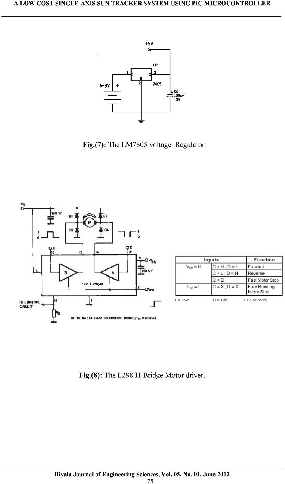 A Low Cost Single Axis Sun Tracker System Using Pic Microcontroller Ac Voltage Measurement Pic16f877a Fig8 The L298