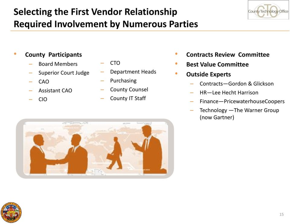 Counsel County IT Staff Contracts Review Committee Best Value Committee Outside Experts Contracts
