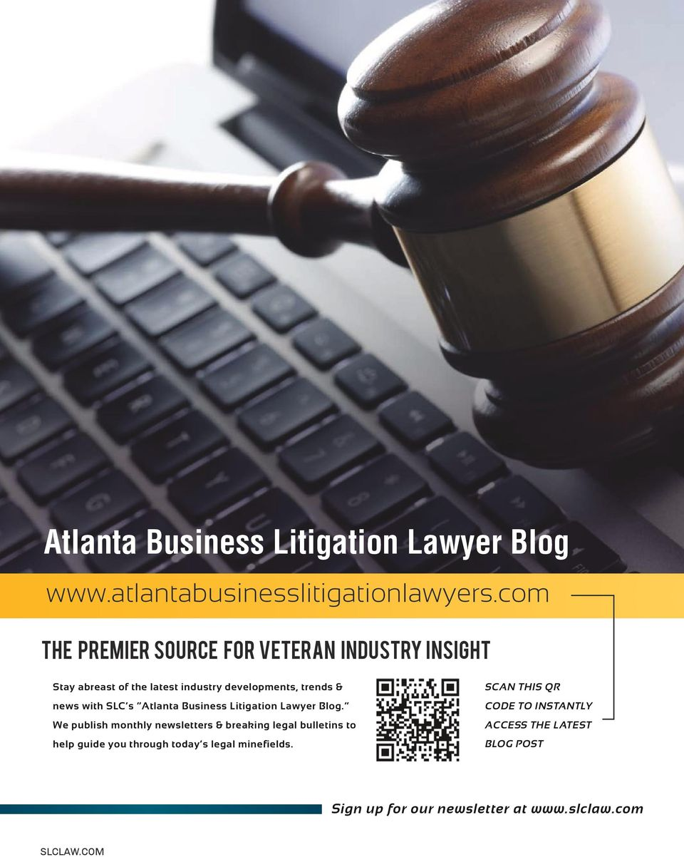 with SLC s Atlanta Business Litigation Lawyer Blog.