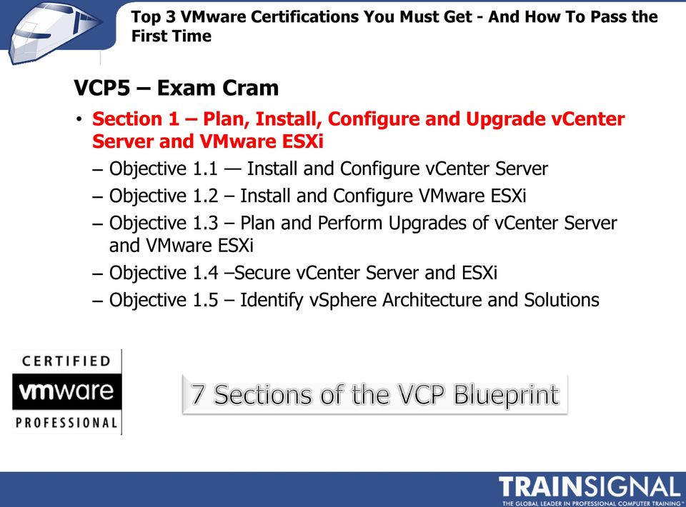 2 Install and Configure VMware ESXi Objective 1.