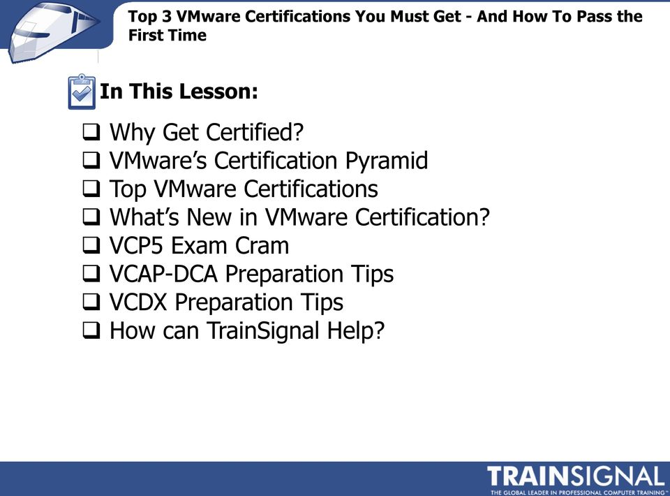 Certifications What s New in VMware Certification?