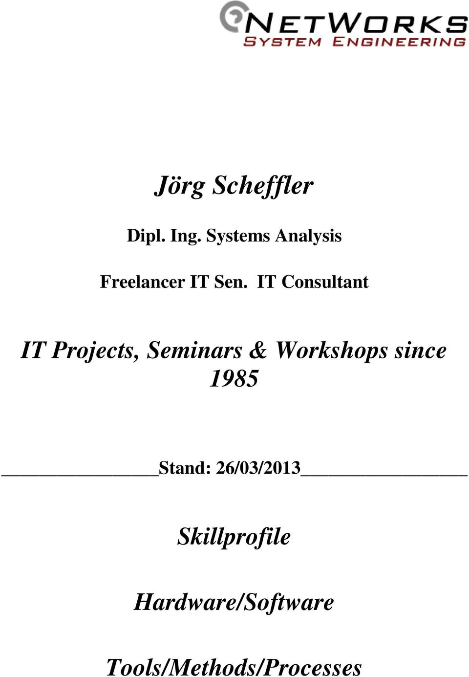 IT Consultant IT Projects, Seminars &