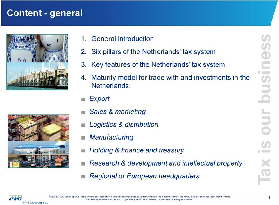 Maturity model for trade with and investments in the Netherlands: Export Sales & marketing