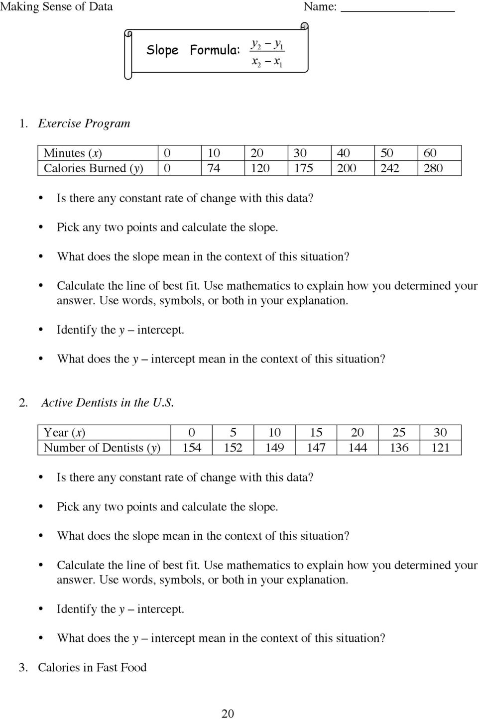 Title Line Of Best Fit Brief Overview Pdf