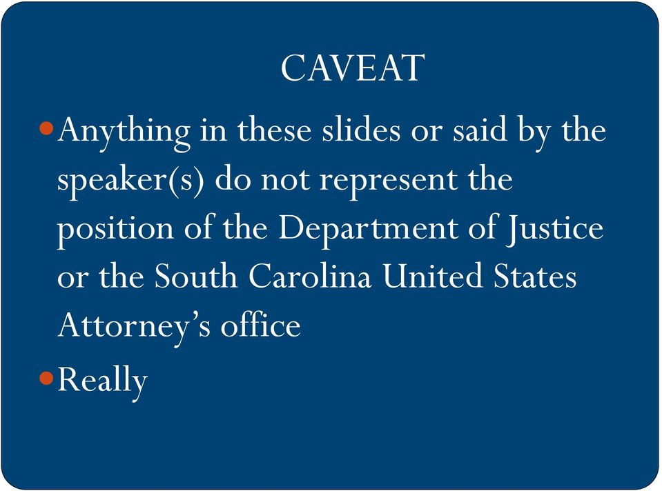 of the Department of Justice or the South