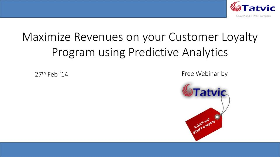 using Predictive Analytics