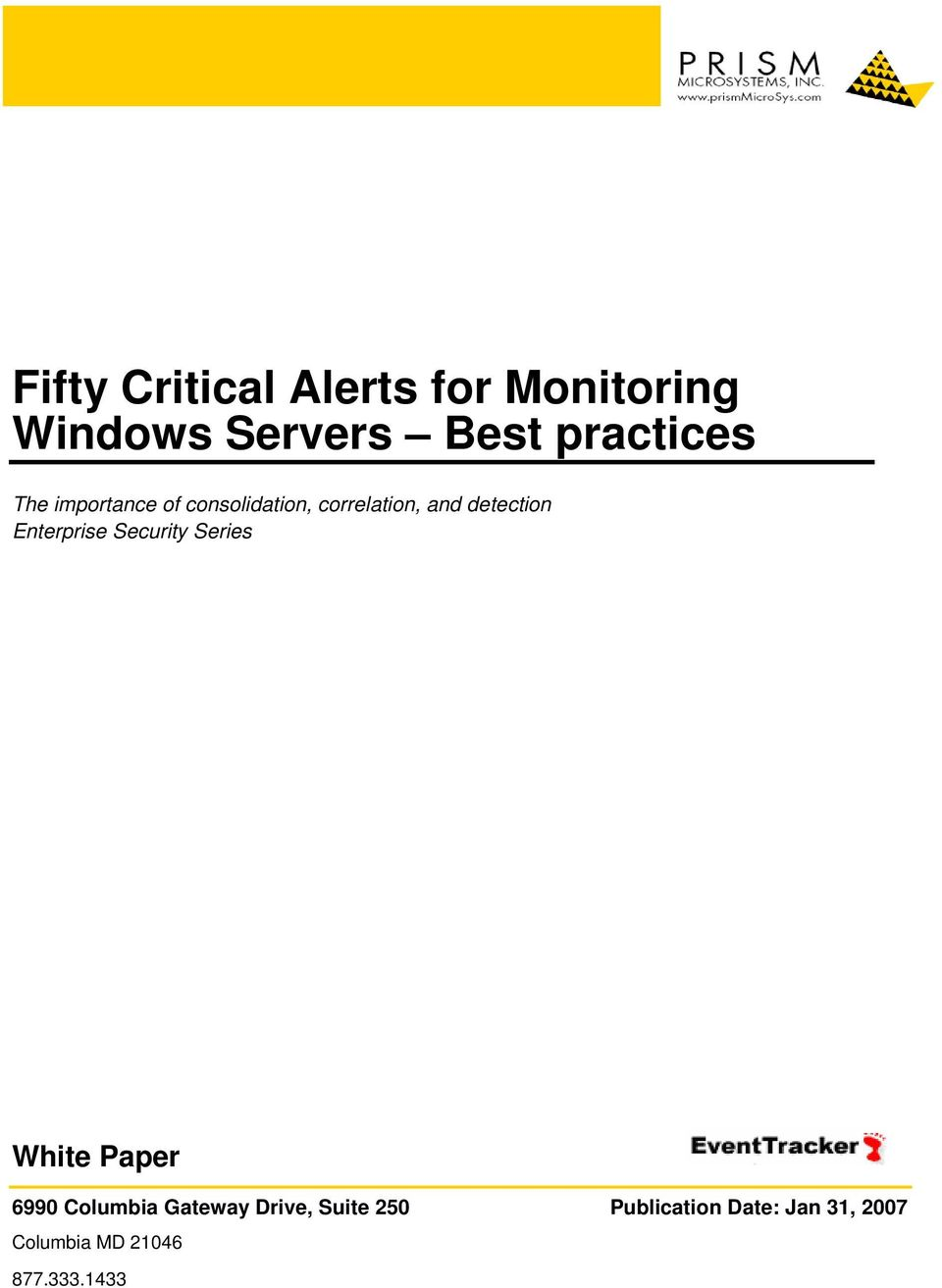 detection Enterprise Security Series White Paper 6990 Columbia