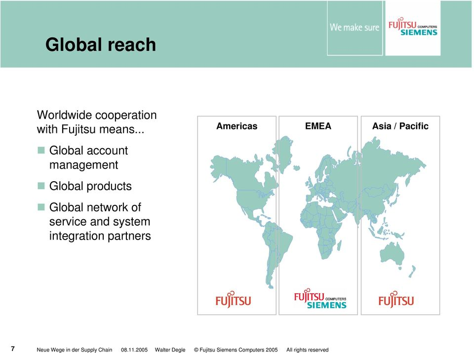 .. Americas EMEA Asia / Pacific Global account