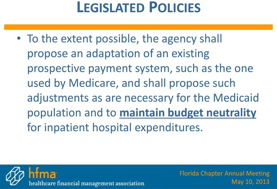 Medicare, and shall propose such adjustments as are necessary for the
