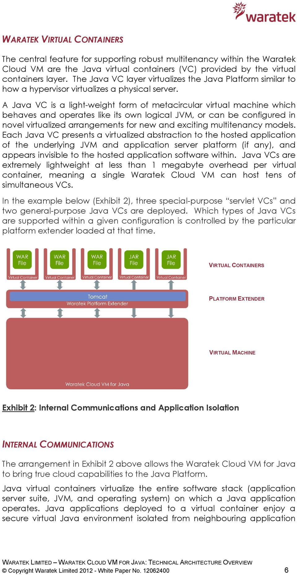 A Java VC is a light-weight form of metacircular virtual machine which behaves and operates like its own logical JVM, or can be configured in novel virtualized arrangements for new and exciting