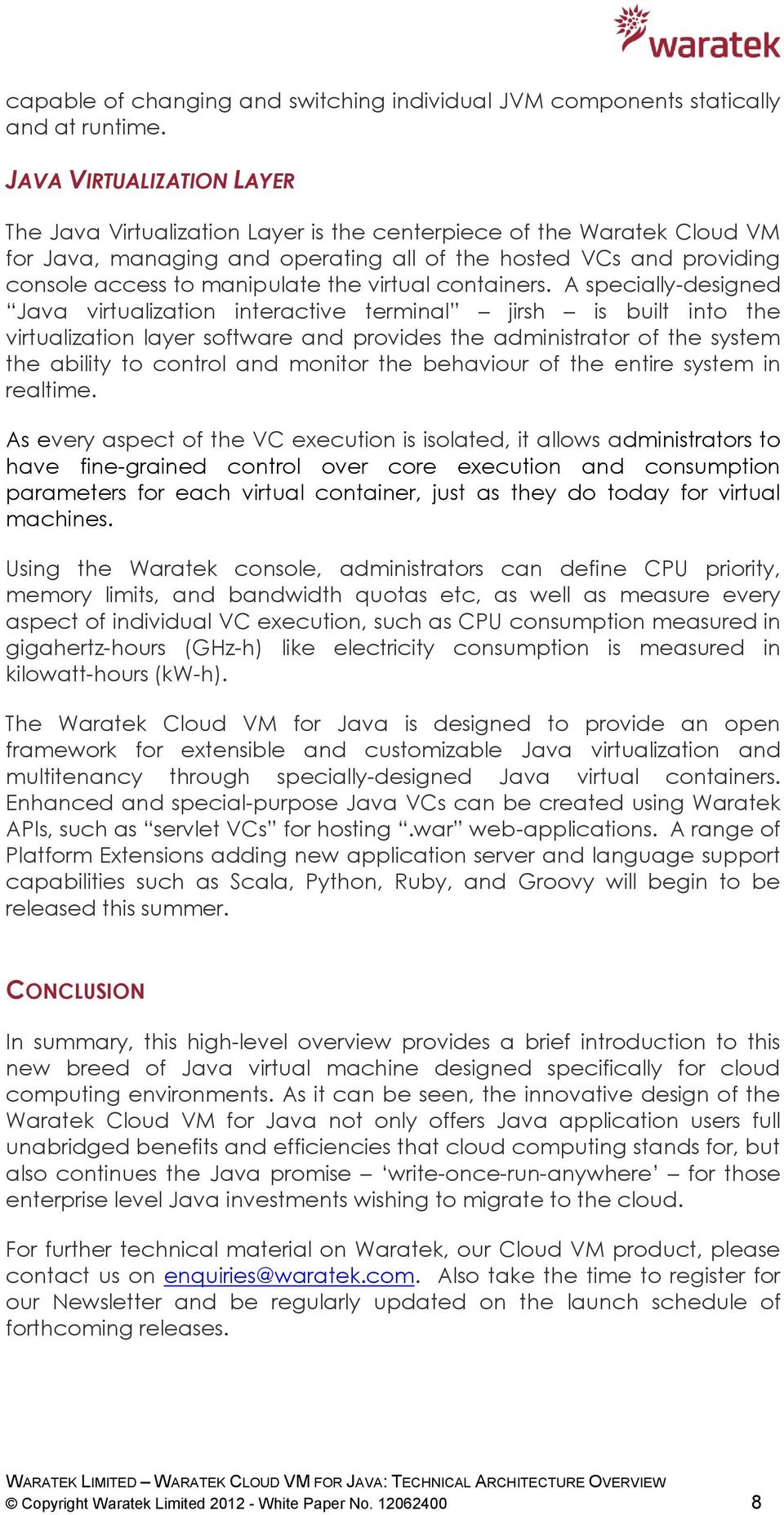 the virtual containers.