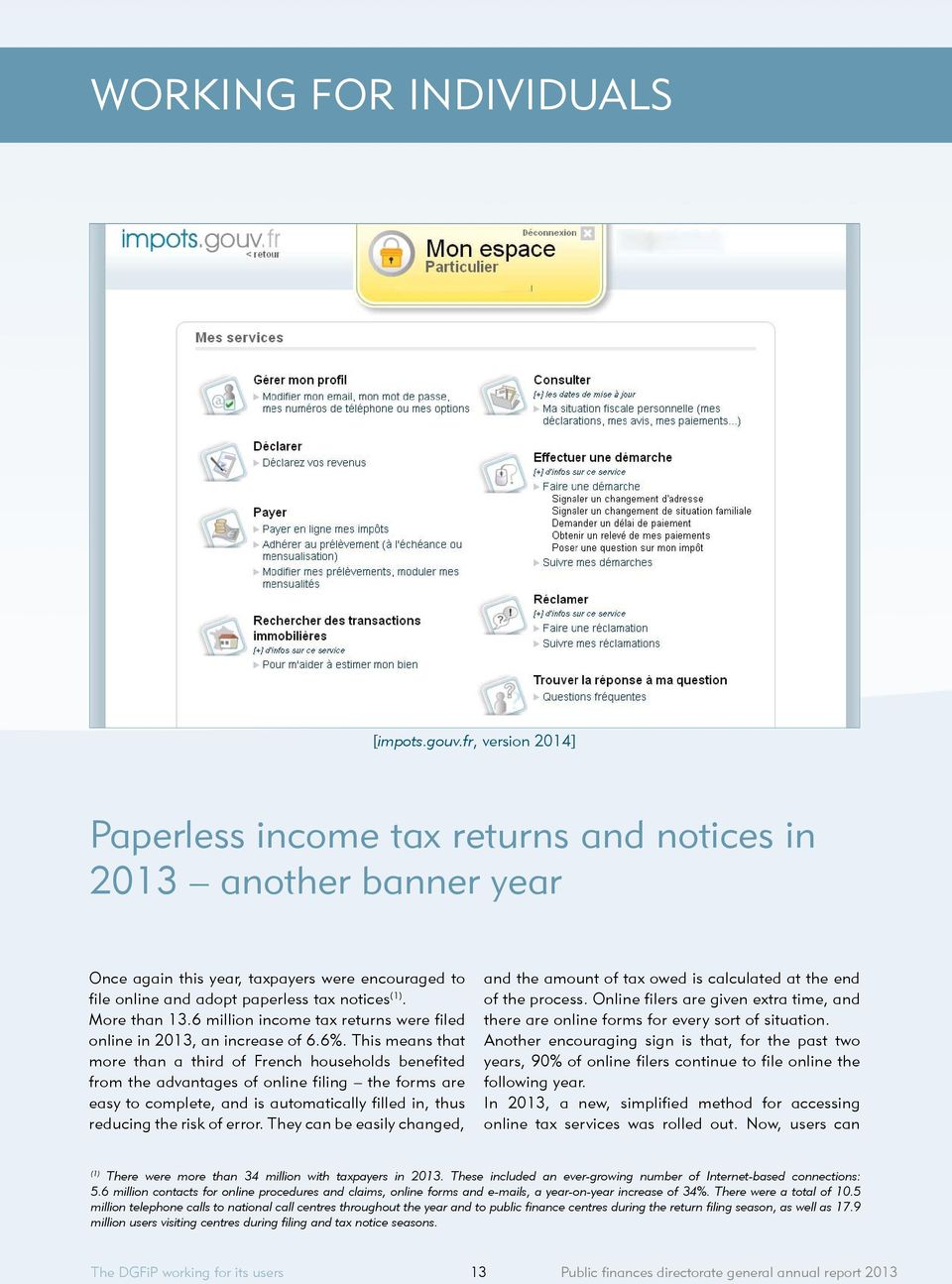 6 million income tax returns were filed online in 2013, an increase of 6.6%.