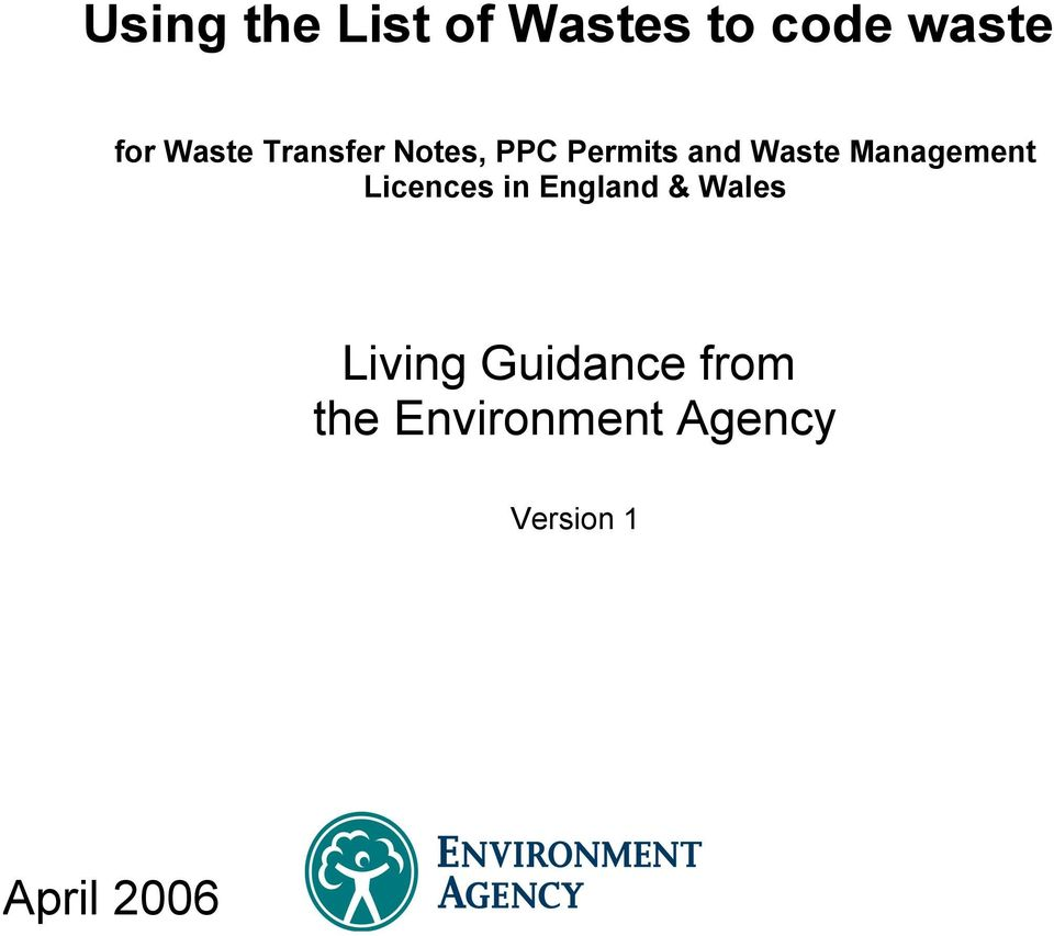 Management Licences in England & Wales Living