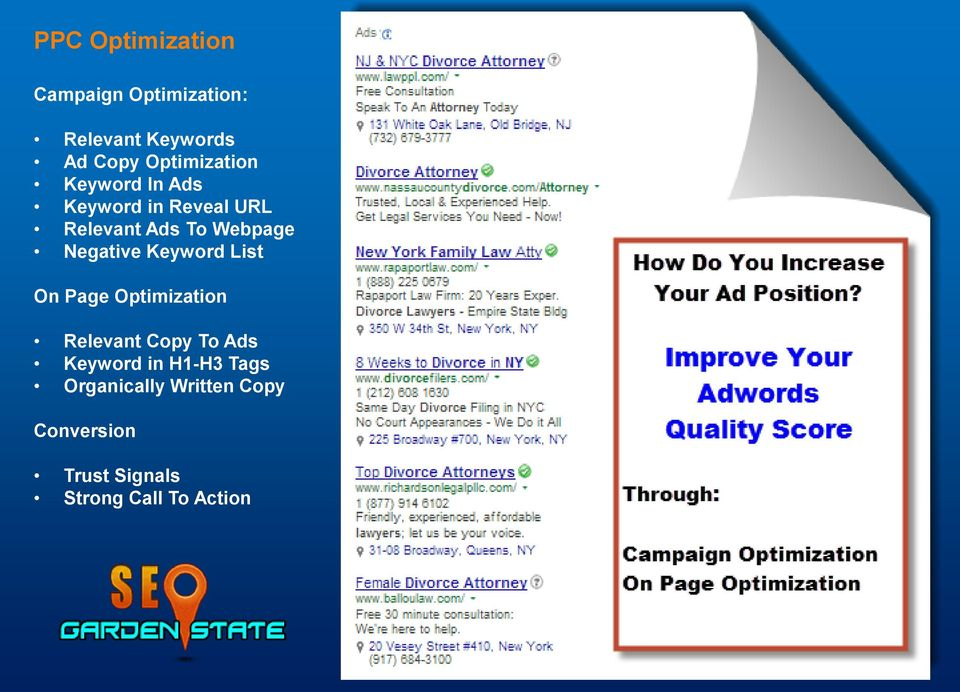 Negative Keyword List On Page Optimization Relevant Copy To Ads Keyword in