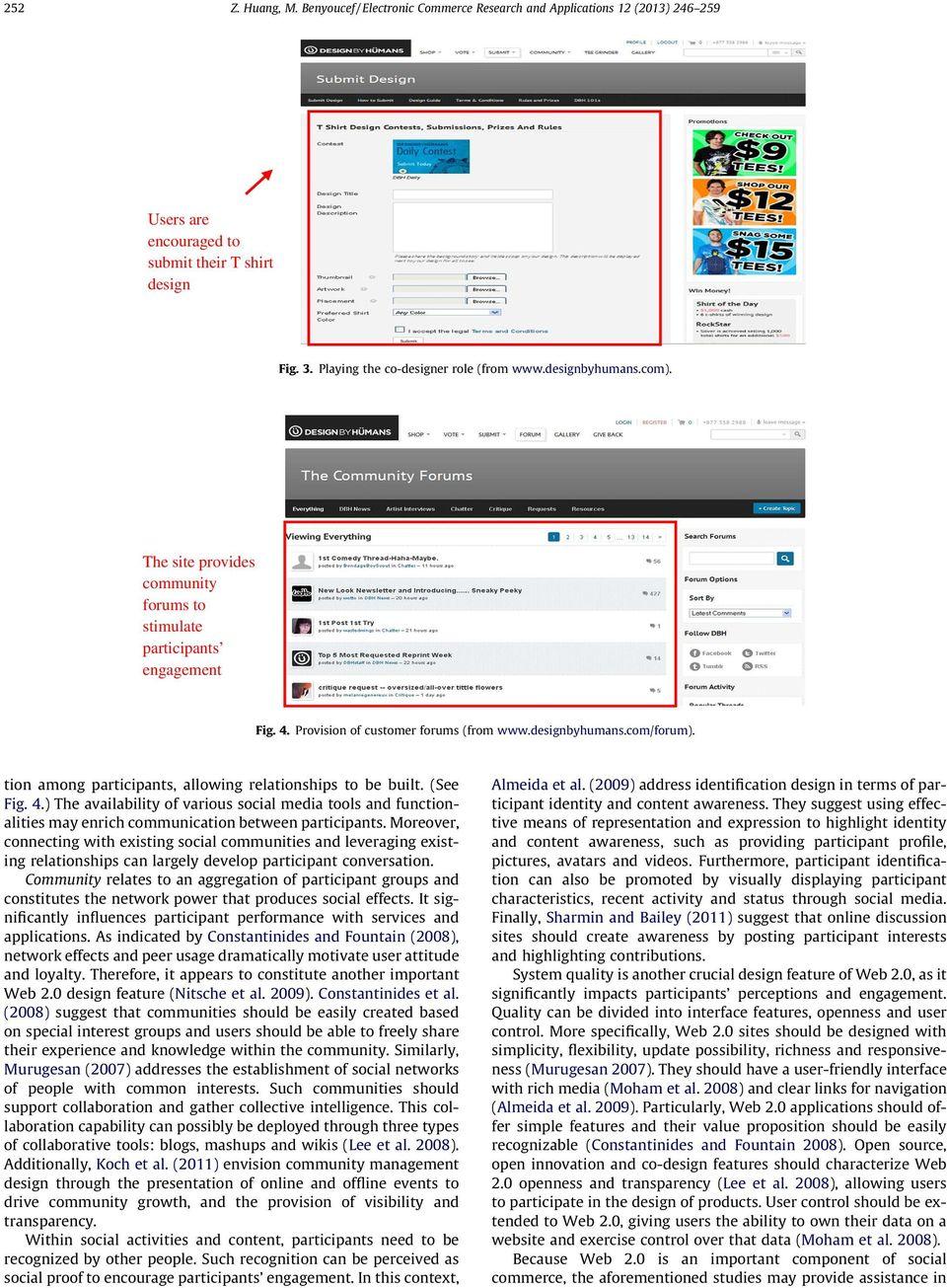 tion among articiants, allowing relationshis to be built. (See Fig. 4.) The availability of various social media tools and functionalities may enrich communication between articiants.