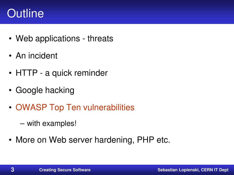 vulnerabilities with examples!