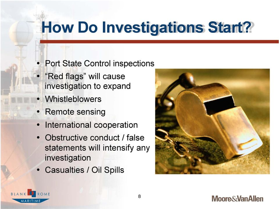 investigation to expand Whistleblowers Remote sensing