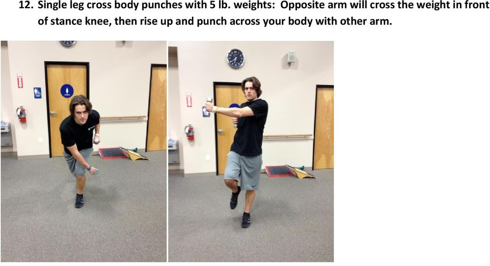 weight in front of stance knee, then rise