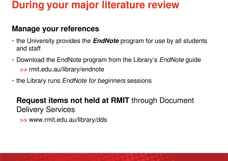 Library s EndNote guide >> rmit.edu.
