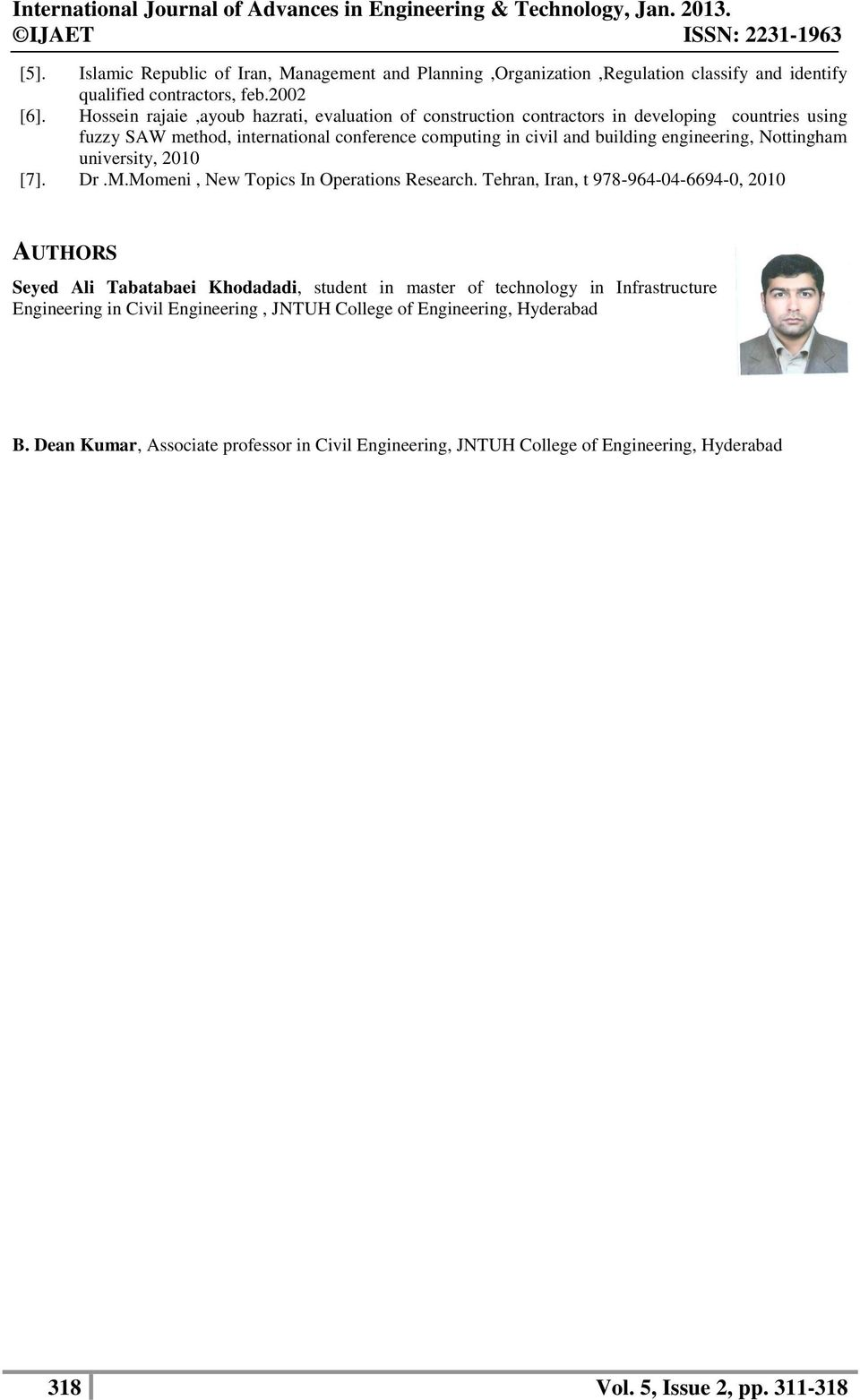 engineering, Nottingham university, 2010 [7]. Dr.M.Momeni, New Topics In Operations Research.
