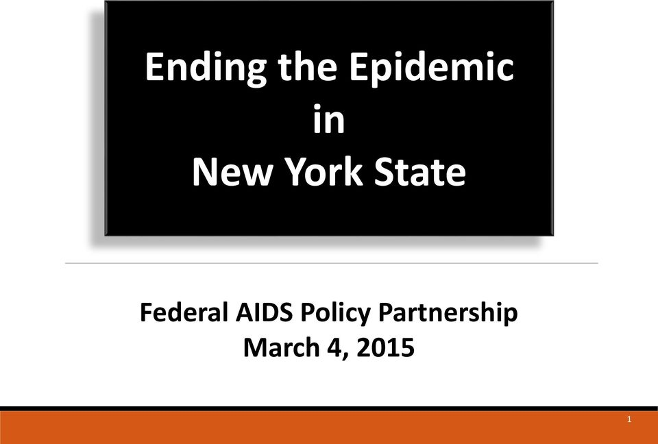 Federal AIDS Policy