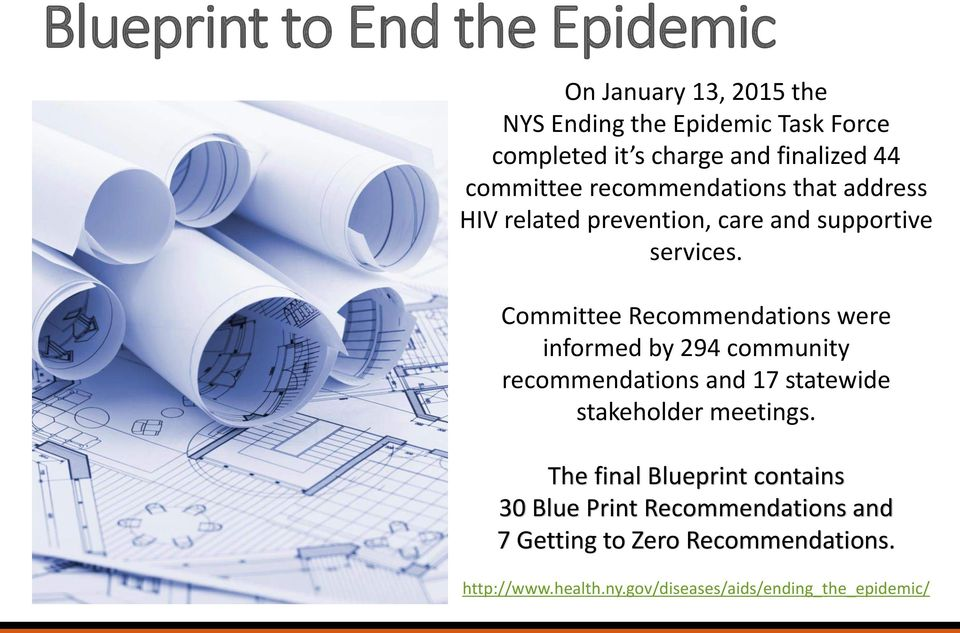 Committee Recommendations were informed by 294 community recommendations and 17 statewide stakeholder meetings.