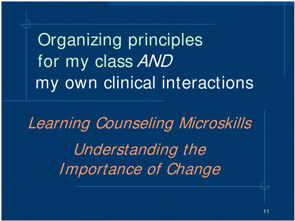 Learning Counseling Microskills