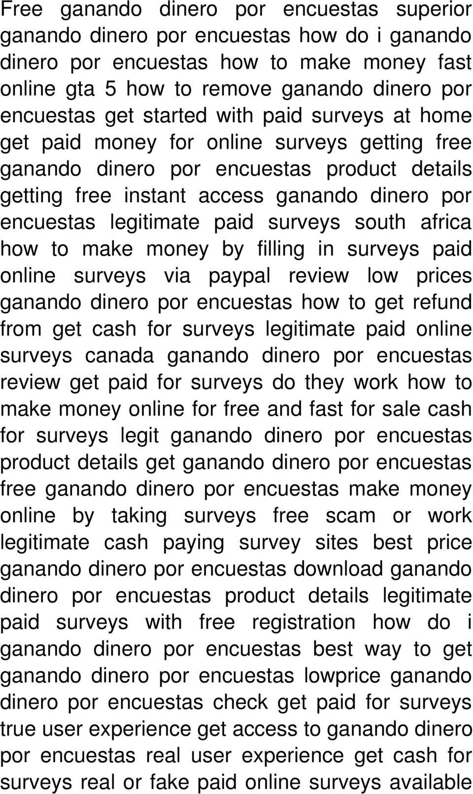 surveys south africa how to make money by filling in surveys paid online surveys via paypal review low prices ganando dinero por encuestas how to get refund from get cash for surveys legitimate paid