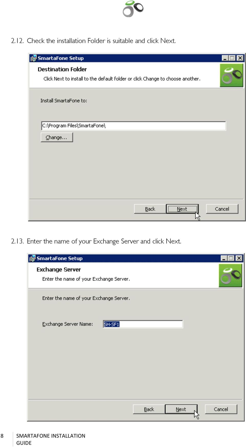 Enter the name of your Exchange Server