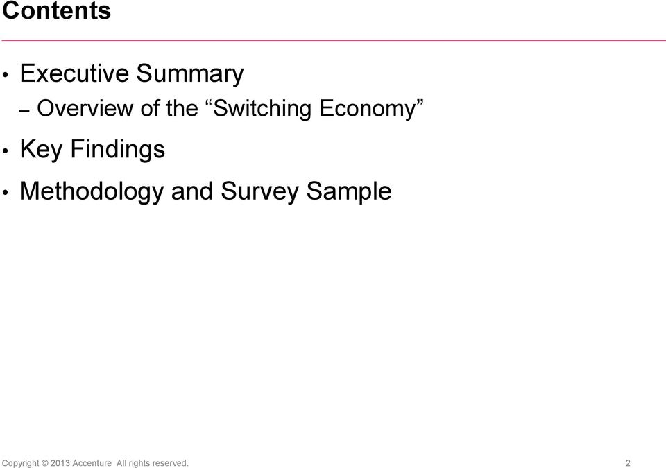 Findings Methodology and Survey