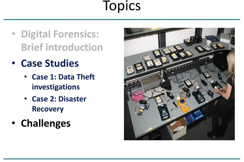 1: Data Theft investigations