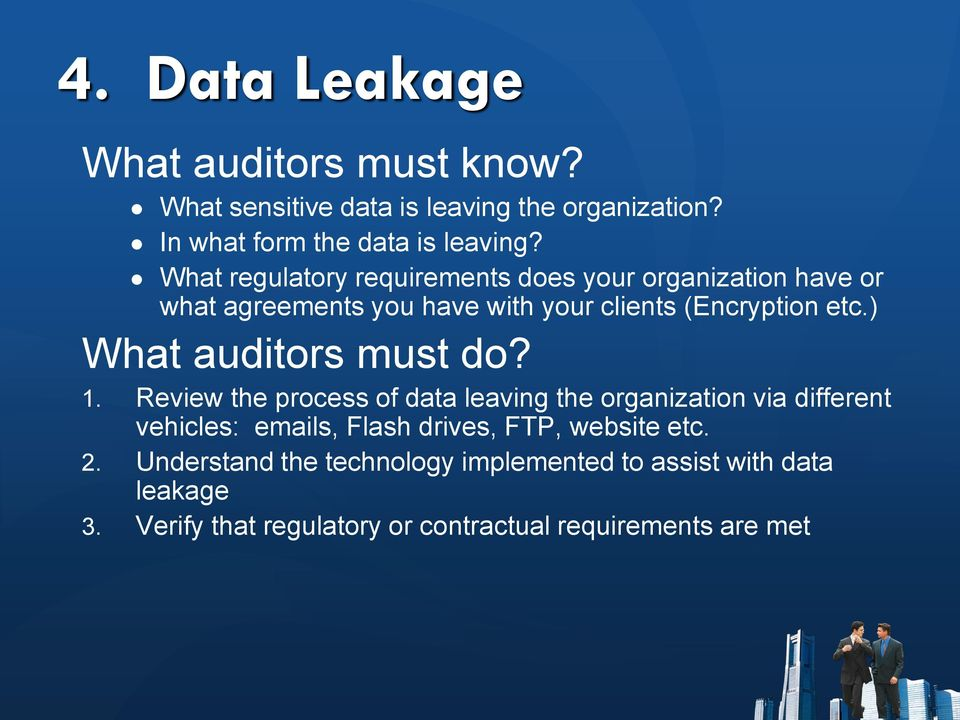 ) What auditors must do? 1.