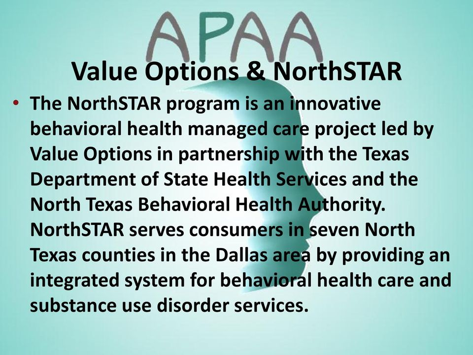 Texas Behavioral Health Authority.