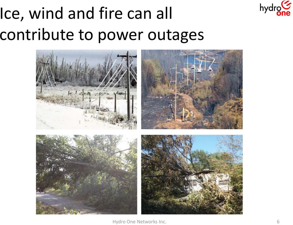 to power outages