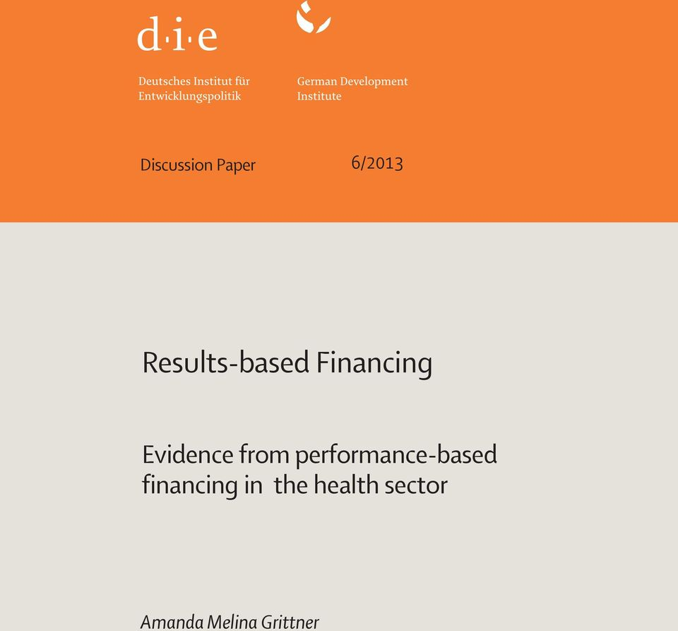 from performance-based financing