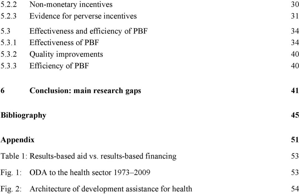 Efficiency of PBF 40 6 Conclusion: main research gaps 41 Bibliography 45 Appendix 51 Table 1: Results-based