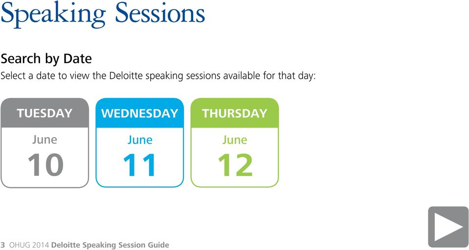 speaking sessions available for that