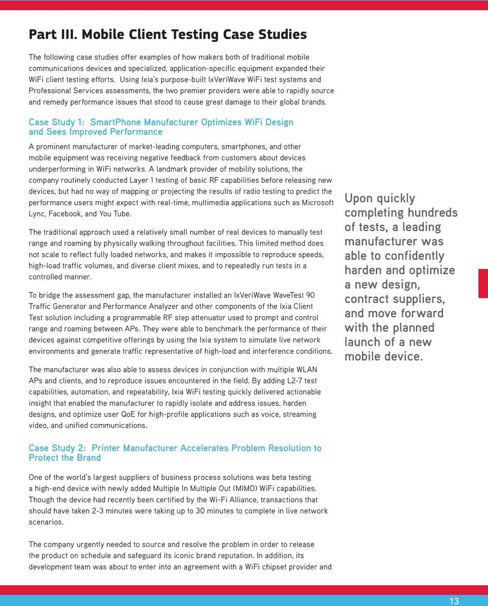 White Paper  Actionable Insight Into WiFi Device Performance