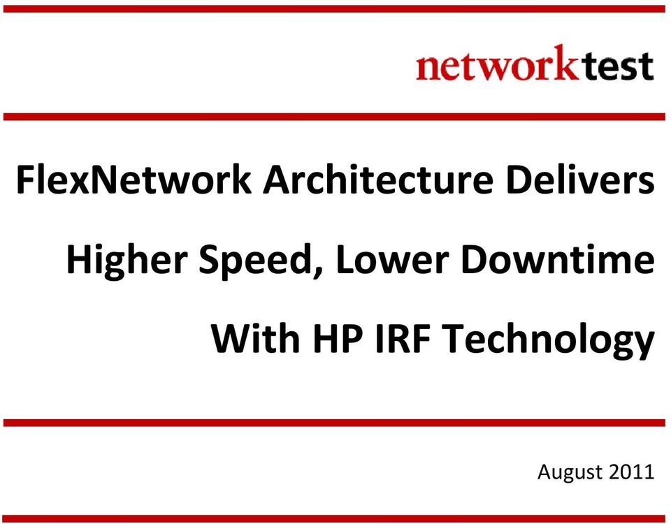 Lower Downtime With HP