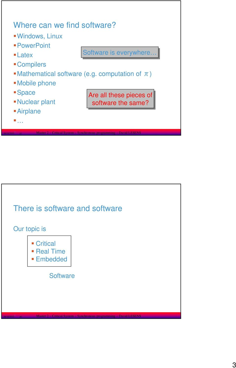of software the same?