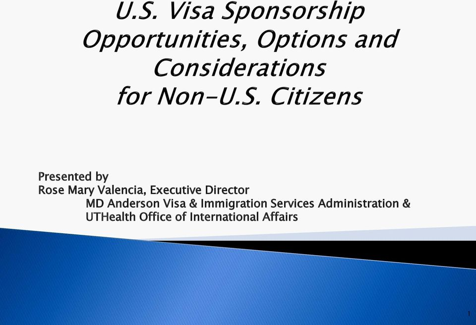 Immigration Services Administration &