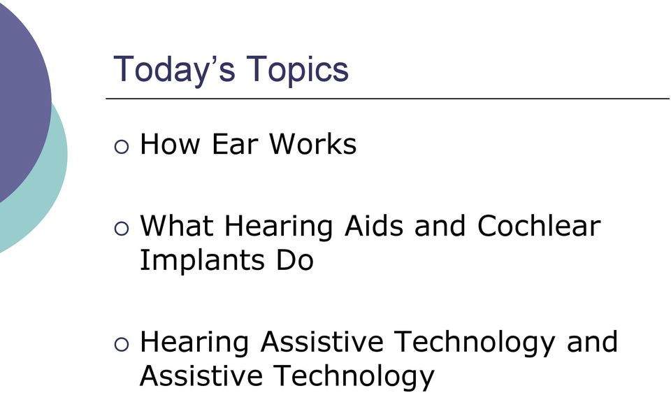 Implants Do Hearing Assistive