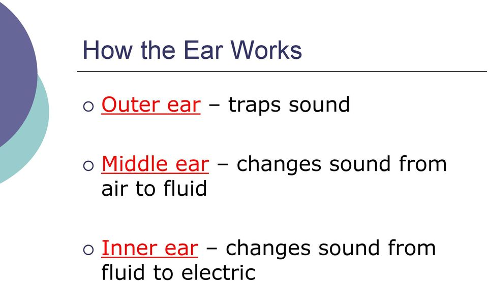 sound from air to fluid Inner
