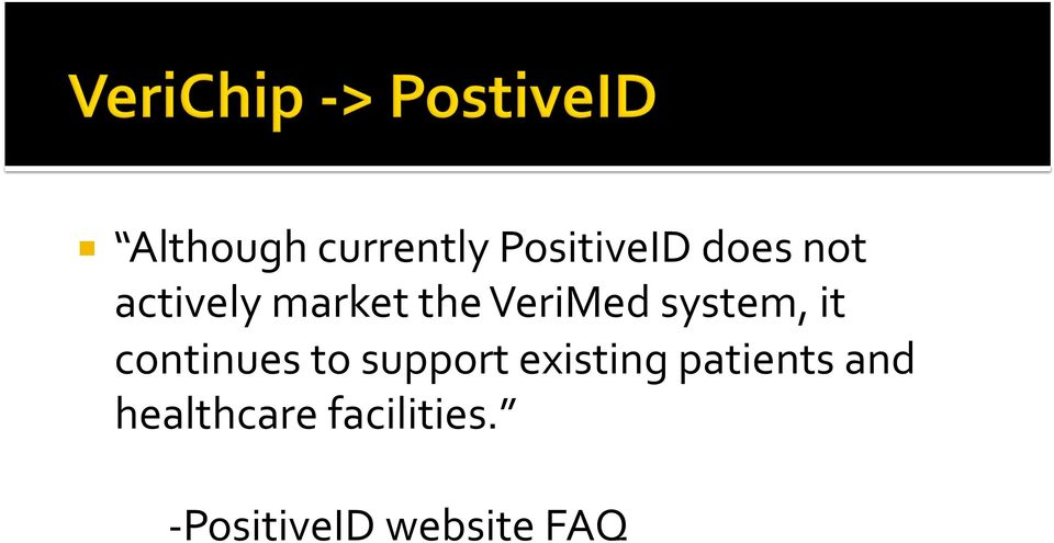 continues to support existing patients