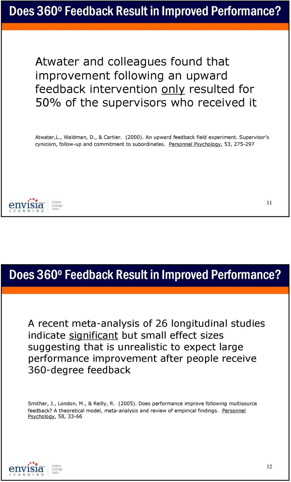 An upward feedback field experiment. Supervisor s cynicism, follow-up and commitment to subordinates.