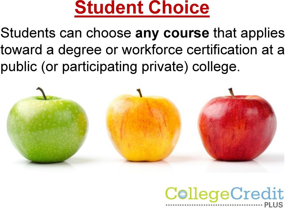 degree or workforce certification at