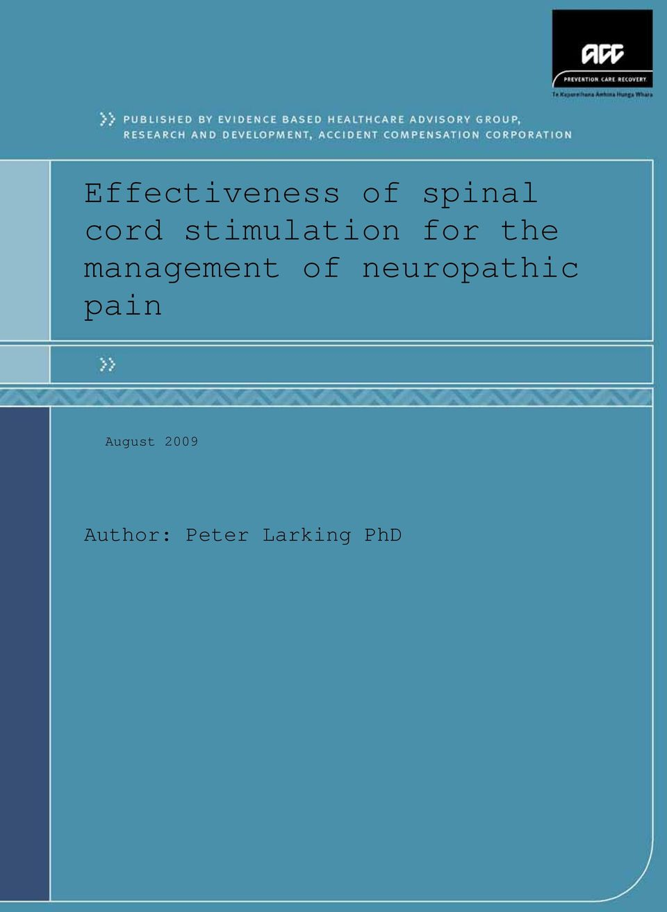 management of neuropathic